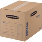 "Fellowes SmoothMove Basic Moving Boxes - Internal Dimensions: 12"" (304.80 mm) Width x 16"" (406.40 mm) Depth x 12"" (304.80 mm) Height - External Dimensions: 12.3"" Width x 16.5"" Depth x 12.6"" Height - Heavy Duty - Corrugated - Kraft, Black - Recycled - 25 /"