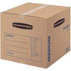 "SmoothMoveâ""¢ Basic Moving Boxes, Medium - Internal Dimensions: 18"" (457.20 mm) Width x 18"" (457.20 mm) Depth x 16"" (406.40 mm) Height - External Dimensions: 18.3"" Width x 18.3"" Depth x 16.4"" Height - Medium Duty - Corrugated - Kraft, Black - Recycled"