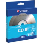 Verbatim CD-R 700MB 52X with Branded Surface - 10pk Bulk Box - 120mm - 1.33 Hour Maximum Recording Time