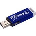 "Kanguru FlashBlu30â""¢ USB3.0 Flash Drive with Physical Write Protect Switch, 16G - 16 GB - USB 3.0 - 145 MB/s Read Speed - 45 MB/s Write Speed - Blue - 3 Year Warranty - TAA Compliant"