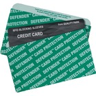 """Quality Park RFID Blocking Credit Card Sleeves - Green - Card Stock - 3.50"""" (88.90 mm) Width"""