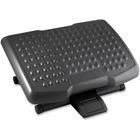 """Lorell Adjustable Height Footrest - 6.50"""" (165.10 mm) Adjustment - Black"""