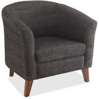 "Lorell Fabric Club Armchair - Fabric Black Seat - Fabric Black Back - Four-legged Base - 31.5"" Width x 28.8"" Depth x 30.8"" Height"