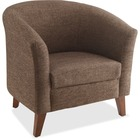 "Lorell Fabric Club Armchair - Brown Fabric Seat - Brown Back - Four-legged Base - 31.5"" Width x 28.8"" Depth x 30.8"" Height - 1 Each"