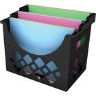 "Deflecto Sustainable Office Desktop Hanging File Holder - 9.6"" Height x 13.3"" Width x 8.5"" Depth - Desktop - Recycled - Black - 1Each"