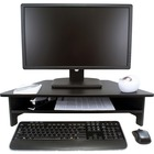 """Victor High Rise Monitor Stand - 7.50"""" (190.50 mm) Height x 27"""" (685.80 mm) Width x 11.50"""" (292.10 mm) Depth - Wood, Laminate - Black"""