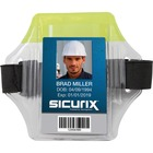 SICURIX Reflective Armband Badge Holder - Vertical - 1 Each - Yellow