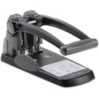 "Swingline High Capacity 2-hole Punch - 2 Punch Head(s) - 300 Sheet Capacity - 9/32"" Punch Size - Black, Gray"