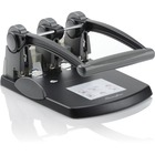 "Swingline Extra-High Capacity 3-Hole Punch - Fixed Centers - 3 Punch Head(s) - 300 Sheet Capacity - 9/32"" Punch Size - Black, Gray"