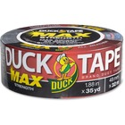 "Duck MAX Strength Tape - Black - 35 yd (32 m) Length x 1.88"" (47.8 mm) Width - Natural Rubber - Polyethylene Backing - 1 Roll - Black"