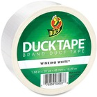 "Duck Color Tape - White - 20 yd (18.3 m) Length x 1.88"" (47.8 mm) Width - 1 Each - White"