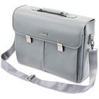 "Kensington Carrying Case (Briefcase) for 15.6"" Notebook - Gray - Damage Resistant - Faux Leather - Handle, Shoulder Strap"