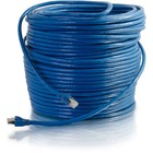 C2G 50ft Cat6 Snagless Solid Shielded Network Patch Cable - Blue - 50 ft Category 6 Network Cable for Network Device - First End: 1 x RJ-45 Male Network - Second End: 1 x RJ-45 Male Network - Patch Cable - Shielding - 23 AWG - Blue