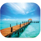"""Fellowes Mouse Pad - Beach - 9"""" (228.60 mm) x 7.50"""" (190.50 mm) Dimension - Rubber"""