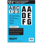 "Headline ID & Specialty Labels - 46, 188 (Number, Letter) Shape - Self-adhesive - Permanent Adhesive, Water Proof - 2"" (50.8 mm) Height - Black, White - Vinyl - 1 Pack"