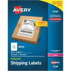 """Avery® TrueBlock Permanent Shipping Labels - Permanent Adhesive - 5 1/2"""" Width x 8 1/2"""" Length - Rectangle - Laser, Inkjet - Bright White - Paper - 2 / Sheet - 200 / Pack"""