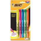 BIC Brite Liner Highlighters - Chisel Marker Point Style - Refillable - Yes - Fluorescent Assorted Water Based Ink - 5 / Pack