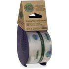 Bandit Earth Hugger Tape Dispenser - Holds Total 1 Tape(s) - Refillable - Eco-friendly, Ergonomic Design - Clear - 1 Each