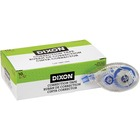 """Dixon Correction Tape Roller - 0.20"""" (5 mm) Width x 26.2 ft Length - Roller - Flexible Tip, Quick Drying - 10 / Box"""