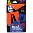 Elmer's Reusable Durable Plastic Stencils - Shape, Capital Letter, Symbol, Number