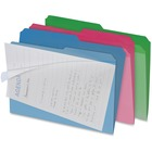 """IdeaStream Find-it C-View Interior File Folders - Letter - 8 1/2"""" x 11"""" Sheet Size - 1/2 Tab Cut - Assorted - 6 / Pack"""