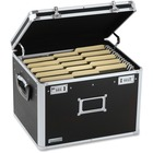 "Vaultz Letter/Legal Size File Chest - External Dimensions: 13.5"" Width x 16.5"" Depth x 12""Height - Media Size Supported: Letter, Legal - Combination Lock Closure - Rubber - Black - For File Folder, Document, File - 1 Each"