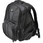 "Kensington Contour 62594 Carrying Case (Backpack) for 15.6"" Notebook - Black - Abrasion Resistant Interior, Puncture Resistant Interior, Tear Resistant Interior - 1680D Ballistic Nylon, 150D Polyester Interior - Checkpoint Friendly - Shoulder Strap, Handl"