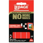 "LePage No More Nails Mounting Tape Permanent Strips - 1.57"" (40 mm) Length x 0.79"" (20 mm) Width - Permanent Adhesive Backing - 10 / Pack - Red"