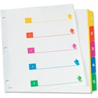 "TOPS RapidX 5 & 8 Tab Super Colour Coded Dividers - 5 Printed Tab(s) - Digit - 1-5 - Letter - 8 1/2"" Width x 11"" Length - 3 Hole Punched - Multicolor Plastic Tab(s) - 1 Set"