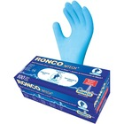 RONCO Nitech Examination Gloves - Medium Size - Blue - Powder-free, Latex-free, Flexible, Ambidextrous, Durable - For Food, General Purpose, Medical, Automotive, Dental, Paramedic, Food, Laboratory Application, Pharmaceutical, Veterinary Clinic, Cosmetolo