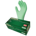 RONCO ALOE Synthetic Disposable Gloves - Medium Size - Green - Disposable, Powder-free, Durable, Flexible, Beaded Cuff, Ambidextrous, Latex-free, Comfortable - For Automotive, Dental, Environmental Service, Food, Beverage, Cosmetology, Electronic Repair/M