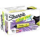 Sharpie Clear View Highlighter - Thin, Thick Marker Point - Chisel Marker Point Style - Fluorescent Yellow