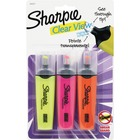 Sharpie Clear View Highlighters Set - Chisel Marker Point Style - Fluorescent Yellow, Fluorescent Pink, Fluorescent Orange - 3 / Pack