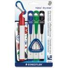 Staedtler Triplus Broad Tip Dry-erase Markers - Broad Marker Point - Red, Blue, Green, Black - 4 / Pack