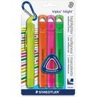 Staedtler Triplus Chisel Tip Hilighters - Broad Marker Point - Chisel Marker Point Style - Fluorescent Assorted Pigment-based Ink - 4 / Pack