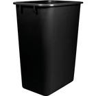 Storex Washable 41qt Plastic Waste Basket - 38.80 L Capacity - Plastic - Black
