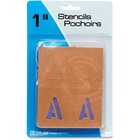 """U.S. Stamp & Sign Brown Paper Letters/Numbers Stencils - 1"""" (25.40 mm) - Number, Capital Letter - Natural, Purple"""
