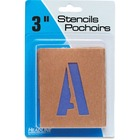 """U.S. Stamp & Sign Brown Paper Letters/Numbers Stencils - 3"""" (76.20 mm) - Number, Capital Letter - Natural, Purple"""