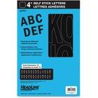 "Headline Black Vinyl Stick-on Letters - Self-adhesive - Water Proof, Permanent Adhesive - 4"" (101.6 mm) Length - Black - Vinyl - 1 Each"