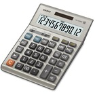 "Casio DM-1200BM Simple Calculator - Extra Large Display, Key Rollover, Dual Power, Durable, Easy-to-read Display - Battery/Solar Powered - 1.4"" x 6.1"" x 8.2"" - Plastic, Metal - 1 Each"