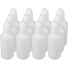 Genuine Joe 32 oz. Plastic Bottle with Graduations - Suitable For Cleaning - Lightweight, Durable - 12 / Carton