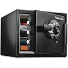 "Sentry Safe Large Fire/Water Safe - Combination Lock - Water Resistant, Fire Resistant - Overall Size 13"" x 16"" x 19"" - Black"