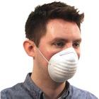 ProGuard Disposable Nontoxic Dust Mask - Disposable - Dust, Pollen Protection - Polypropylene - White - 50 / Box