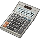 """Casio MS80 Desktop Solar Tax Calculator - Extra Large Display, Dual Power, Rubber Feet, Key Rollover, 3-Key Memory, Sign Change, Easy-to-read Display, Independent Memory - Battery, Solar Powered - 5.8"""" x 4.1"""" x 1.1"""" - Metal, Plastic - 1 Each"""