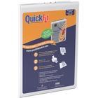 QuickFit Deluxe Pad Holder Clipboard - Vinyl, Nickel - 1 Each - White