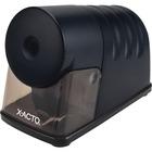 "X-Acto Powerhouse Electric Pencil Sharpener - Spiral - 6"" (152.40 mm) Height x 4"" (101.60 mm) Width x 8.25"" (209.55 mm) Depth - Black"