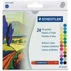 "Staedtler karat 2420 Oil Pastel - 2.76"" (70 mm) Length - 0.43"" (11 mm) Diameter - Assorted - 24 / Set"