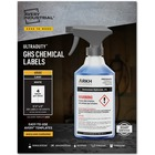 "Avery® UltraDuty GHS Chemical Labels - Waterproof - UV-Resistant - Permanent Adhesive - 3 1/2"" Width x 5"" Length - Rectangle - Laser - White - Polyester Film - 4 / Sheet - 200 / Box"