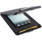 """US-Works Saunders SlimMate iPad Storage Clipboard - 0.50"""" Clip Capacity - iPad, Paper, Tablet, Stylus, Utensil - Top Opening - 9"""" x 11 3/4"""" - Low-profile - Black - 1 Each"""