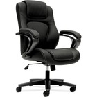 "HON Mid-Back Task Chair - Black Vinyl Seat - Black Back - 5-star Base - 26"" Width x 28"" Depth x 43.3"" Height - 1 Each"